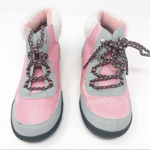 2 Gymboree Pink Gray Winter Winter Ankle Booties